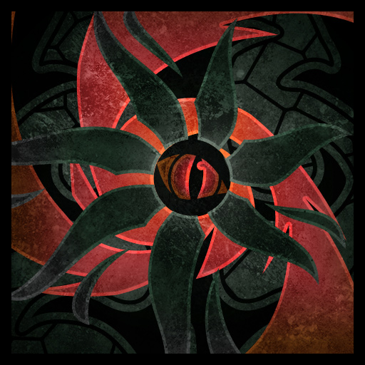 Icon for the 'Piercing Eye' ability, depicting a red beastial eye peering from the shadows.